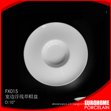 eurohome wholesale porcelain catering round plate