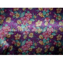 Satin Fabric Fake Silk Flora Printed for Dress and Sleepwear