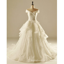 off The Shoulder Soft Flowing Wedding Gown