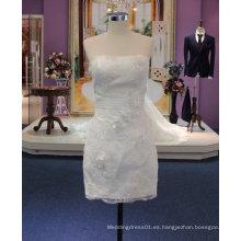 Nuevo vestido de boda corto de la llegada 2017 con la correa de la colmena