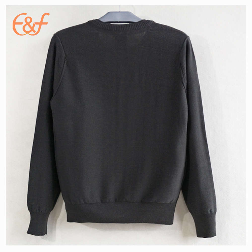 High Quality Customized Men Cotton Fitted Sweater Back Look