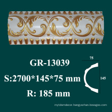 architectural mouldings products high density PU styrofoam crown molding for sale