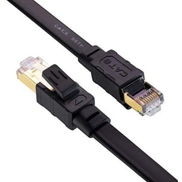 Cable Ethernet Cat 8 trenzado sólido para interiores