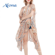 Traje de baño kimono beach pareo beachwear cover up