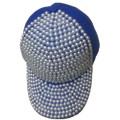 Promotion cheap good quality diamond baseball cap Rivet sports adjustable hat