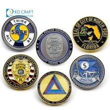 High quality personalized custom metal embossed 3D enamel souvenir land air team us navy seals challenge coin
