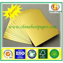 UV golded card paper/fancy paper for packing
