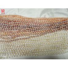 4-5mm AA Grade Rice Ntural Pearl Strands