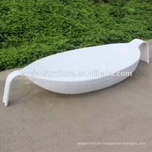 Outdoor Synthetic Wicker Leaf Shape Lounge