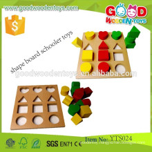 Preschool Toys Game Wooden Educational Shape Board Schooler Toys Intelligent Board Games