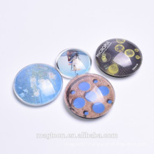 tourist souvenir fridge magnet,round glass magnet for refrigerator