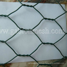 Green PVC Coated Gabion Basket