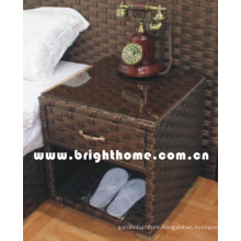 Wicker Rattan Hotel Bedroom Furniture Bedside Table Bp-Bc32