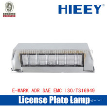 Offroad License plate lamp with E-MARK truck license plate light number plate light