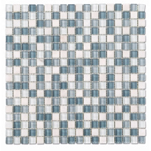 15*15 Blue and White Square Glass Swimming Pool Mosaic Tile