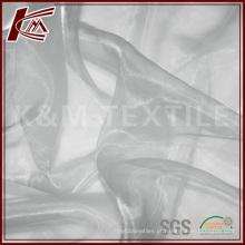 China fornecedor de Organza de seda tecido para o vestido de casamento