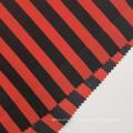 Fashion Red Black Striped Printed Polyester Pongee Fabrics