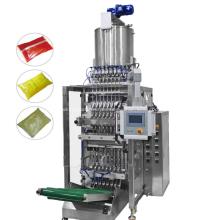 Máquina de embalagem de líquido para saco com selagem traseira multilane