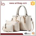 Fabricantes China PU Leather Ladies Tote Bags Handbag Set