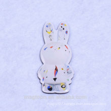 2016 cute rabbit design souvenir poly resin fridge magnets for promotion