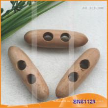 Модная натуральная деревянная ручка Переключатель для одежды BN8112