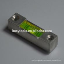square aluminum level bubble vials