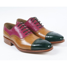 Colorful Genuine Leather Mens Flat Busines Shoes (NX 422)