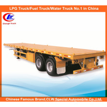 40ft 2 Axle Container Loading Flatbed Trailer Flatbed Semi Trailer