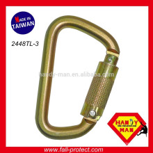Fall Arrest Manufacturers With CE Certification Classic D Type Quicklock Carabiner