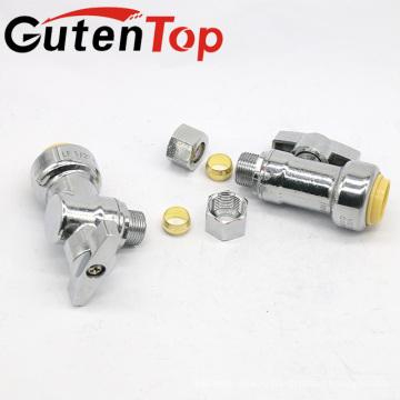GutenTop высокого качества бессвинцовая Латунь 1/4 дюйма угол поворота клапана с 1/2PUSH форма x 3/8 сжатия OD