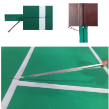 Tragbare Badminton-Reißverschluss-Matten für Ereignisse
