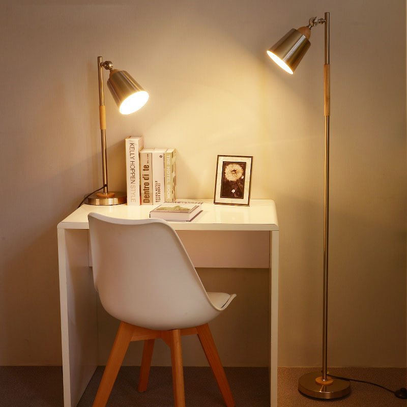 Application Cream Bedside Table Lamps