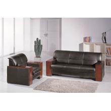 Juego de sofás de cuero con certificación ISO para muebles de oficina