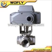 16bar 24vcc aço inoxidável elétrico 304 válvula de controle de 2 vias com atuador