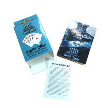 PET+Gold/Silver/Black Foil Waterproof promotional playing card