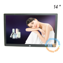 """Nouvelle arrivée mince 14 """"cadre photo numérique avec HD vidéo MP3 MP4 multifonction"""