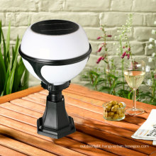High Lumen CE solar pillar light WITH 36pcs LED FOR outdoor garden ball lighting (JR-2012)