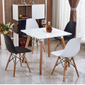 wholesale table foe match plastic chair with wooden leg