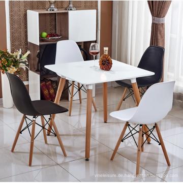 Großhandel Tischfeind Match Kunststoffstuhl mit Holzbein