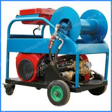 Máquina de limpieza de tuberías de alcantarillado Motor de gasolina 24HP