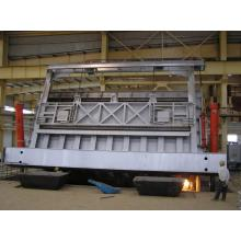 Aluminium holding and melting induction furnace