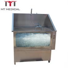 Veterinary clinic equipment stainless steel bath pool in vet clinic