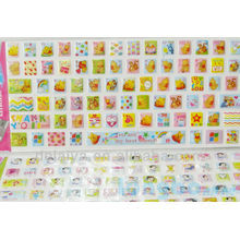 Cute Cartoon eva puffy sticker keyboard/Mobile decor Decals Customized designs