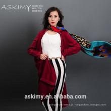 Mulher bonita moda nova moda lenço tecido barato