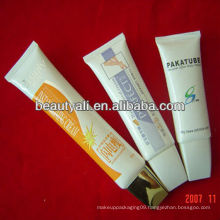 Facial cleanser oval plastic tube
