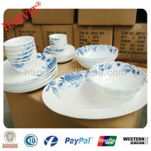 28PC Heat Resistant Synthetic Ethiopian Opal Rough Glassware Tableware Dinnerware Sets For Hot Sale