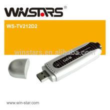 usb 2.0 dual dvb-t stick , usb TV tuner card with mini TV antenna,plug-and-play function