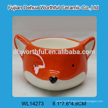 2016 most popular style ceramic egg cups in orange fox shape