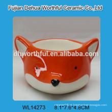 2016 copos de ovo de cerâmica estilo mais popular em forma de raposa laranja