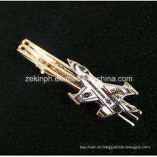 Transporte personalizado forma oro corbata para el regalo promocional